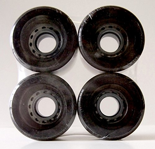 Everland Longboard Skateboard Cruiser Wheels 65x51mm (Clear Black)