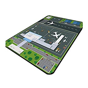 SHBV Kids Rug Playmat Play Area Rug Nursery Rugs Airport Panorama Toddlers Non-Slip Interactive Play Mat Bedroom Rug Washable Rug 120 Times; 160CM
