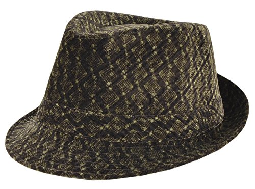 Men's WESTEND Trendy Brown Classic Cafe & Lounge Fedora Hat - Small