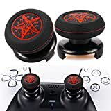 Playrealm FPS Thumbstick Extender & Printing Rubber Silicone Grip Cover 2 Sets for PS5 Dualsenese & PS4 Controller (Demon Circle)