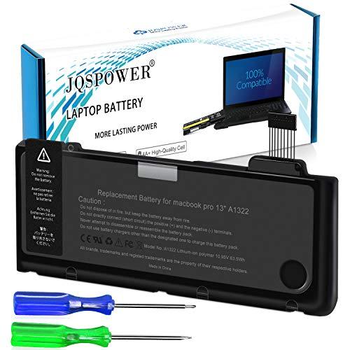 JQSPOWER Batteria per Portatile per MacBook Pro 13'' A1322 A1278(metà 2009 metà 2010 inizio 2011 fine 2011 metà 2011 2012) MC700LL/A MD102LL/A... [63.5Wh/10.95v]