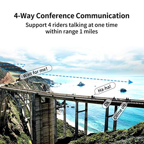LEXIN B4FM Motorradhelm Intercom, Bluetooth Motorrad Headset Windgeräuschreduzierung, Bluetooth-Kommunikationssystem für Motorräder - 2