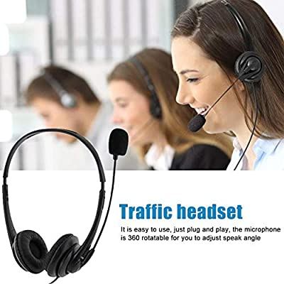 Clevoers Computer Headset, USB Headset with Microphone Noise Cancelling Headphone - Overhead Headphone for Gaming Online Learning from Clevoers