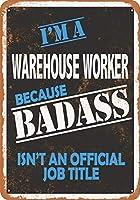 2個 20*30CMメタルサイン-BadassWarehouse Worker