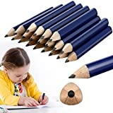 20 Pieces Short Triangular Fat Pencils for Kindergarten and Preschoolers, Wide Short Beginner Grip for Writing and Drawing, 3.5 Inch