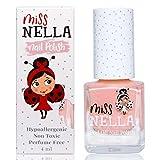 Miss Nella nouvelle collection d'été PEACH SLUSHIE- couleur pêche Vernis à ongles spécial avec des paillettes pour enfants, formule Peel-off, à base d'eau et sans odeur
