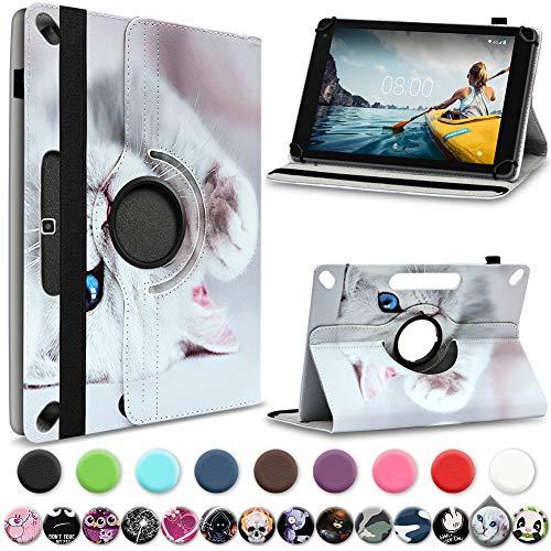 UC-Express Medion Lifetab E10430 E10714 E10414 E10604 E10412 E10511 E10513 E10501 Tablet Hülle Tasche Schutzhülle Cover 360° Drehbar, Farbe:Motiv 14