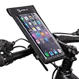 QWERT Waterproof Bicycle Cell Phone Mount Holder Bag Case with Touch Screen Waterproof Front Frame Storage Bag Cycling Touchscreen Cellphone Mount Bag for Phone