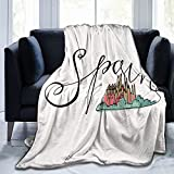 España e iglesia santa franela manta mullida cómoda cálida suave manta manta sofá dormitorio