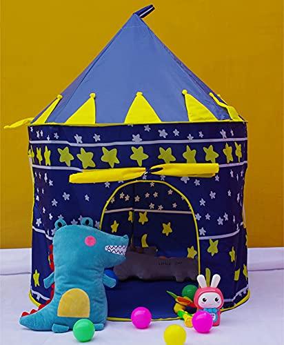 Tienda infantil Plopable Pop-Up Pink Blue Princess Prince Castle Game Home Doll House Conveniente Equipaje Camping Playground Teatro Perfecto Regalo de cumpleaños Adecuado para interiores y al aire li