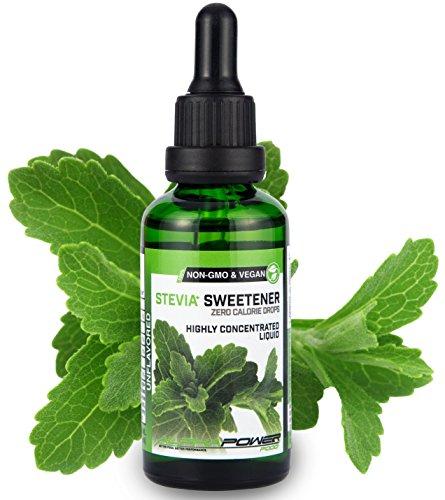 ALPHAPOWER FOOD: Stevia liquida, Stevia (1 x 50ml naturale e pura), vegano, sostituto dello zucchero, Gocce di Stevia Liquida, senza zucchero & calorie, dosi extra elevate, dolcificante naturale