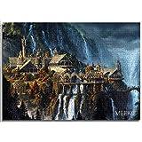 1000 pièces de puzzles classiques pour adultes Château de la vallée du Seigneur des anneaux Puzzle pour enfants 52x38cm jeux de puzzle éducatifs cadeau de Noël