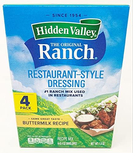 Hidden Valley Ranch Dressing Mix - Buttermilk - 0.4 oz - 4 pk