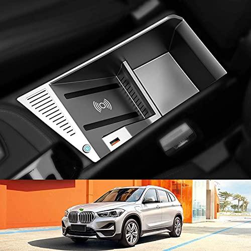 Cargador Inalámbrico Coche,para BMW X1 X2 Tablero De Carga(2016-2021) con USB QC3.0 Puerto 15W Rápida Teléfono Carga Consola Central Almohadilla Inalámbrica para Todos los teléfonos Inteligentes QI