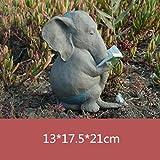 HbHTVCLINYIming51-gongyibaishe Divertidas Figuras de Elefantes en Miniatura, Escultura de Arte, estatuas de Animales, artesanías de Resina, Accesorios de decoración del hogar, Multicolores