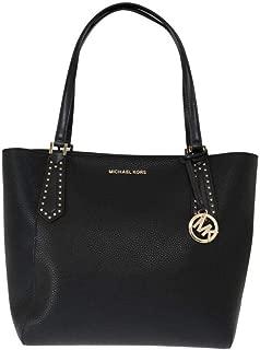 Michael Kors Black Kimberly Leather Tote Bag
