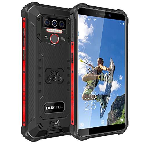 OUKITEL WP5 Pro (2021) 8000mAh Rugged Smartphone IP68 in Offerta 4GB RAM 64GB ROM Impermeabile Antiurto Telefono Robusto, 4G Android 10 5,5 Pollici Cellulari Economici, Triple Camera, 4 LED GPS Nero