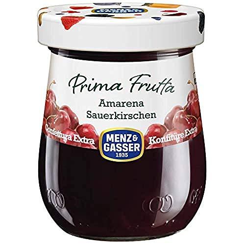 Menz&Gasser Confettura Extra di Amarene Prima Frutta - Confettura con Frutta di Alta Qualità, 1 Vaso x 340 g