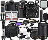 Nikon D7500 DSLR Camera with 18-55mm VR & 70-300mm Lens Bundle + Prime...