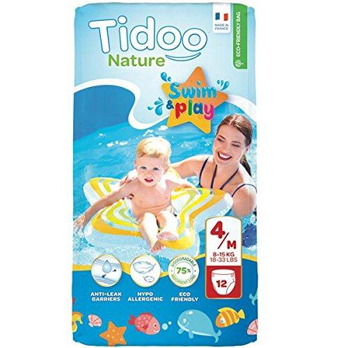 TIDOO - Couches de bains 4 M 8-15 kg - 12 couches