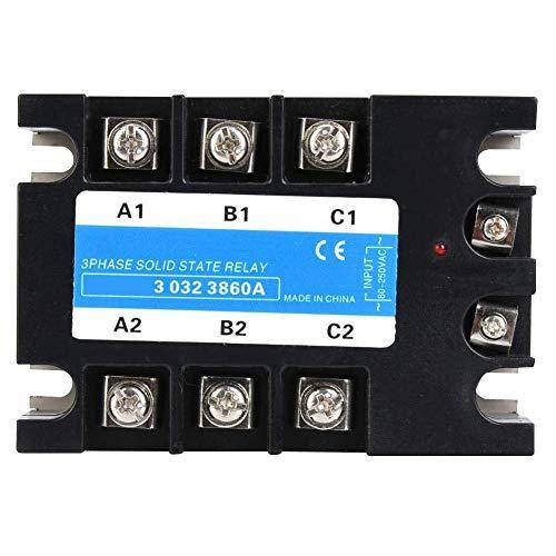 RILLATEK Threat Fase Solid State Relay, 80-250VAC Entrada SSR3 AC-AC Equipo eléctrico para la Calidad de la maquinaria CNC es Nuestra Cultura (Berm-3 032 3860A (60A)) (Color : -, Talla : -)