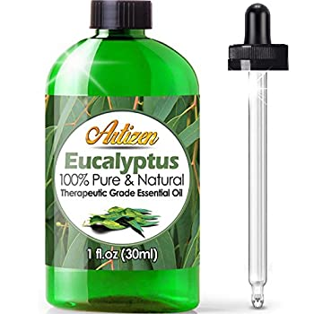 Artizen Eucalyptus Essential Oil  100% Pure & Natural - Undiluted  Therapeutic Grade - Huge 1oz Bottle - Perfect for Aromatherapy Relaxation Skin Therapy & More!
