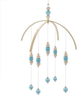Lit bébé Mobile Style nordique Perles en bois Carillons éoliens pour enfants Lit suspendu Décor Accessoires de photographi...