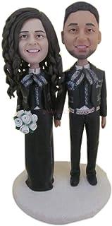 Mariachi Personalizzato Cake Topper Figurina di argilla Bobble Head basata sulle foto dei clienti Birthday Cake Topper Dec...