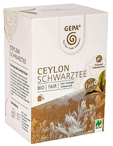 Gepa Bio Ceylon Schwarztee - 100 Teebeutel - 5 Pack ( 20 x 2g pro Pack)
