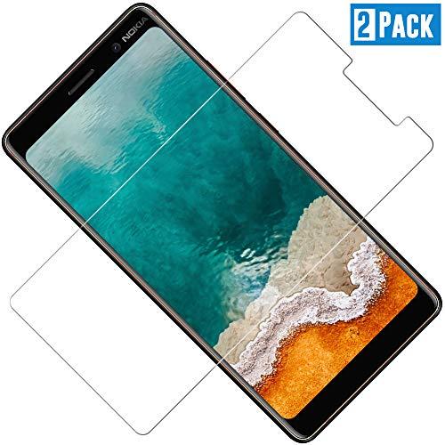 TOCYORIC Panzerglas Bildschirmschutzfolie für Nokia 7 Plus, Ultra Dünn HD Transparenz Schutzfolie Anti-Öl, Anti-Kratzer, Blasenfrei, 9H Gehärtetes Glas Bildschirmschutz für Nokia 7 Plus, 2 Stück