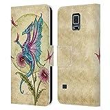 Head Case Designs Licenciado Oficialmente Amy Brown Mariposa Daydream Mítico Carcasa de Cuero Tipo Libro Compatible con Samsung Galaxy S5 / S5 Neo