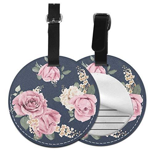 Kofferanhänger PU Leder Parfüm Blumen, Gepäckanhänger ID Etikett Mit Adressschild Namenschild für Reisetasche Koffer