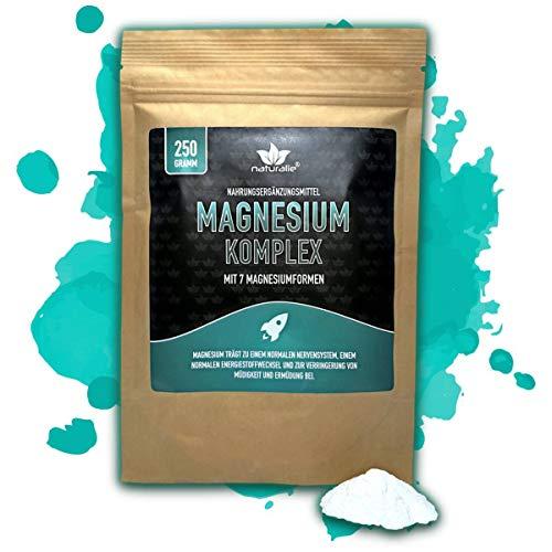 naturalie® - Magnesium Pulver im Komplex mit Vitamin B6-7 Magnesiumformen - laborgeprüfte Markenqualität - 250g