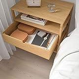 BestOnlineDeals01 NORDKISA Nachttisch Bambus 60x40 cm robust & leicht zu pflegen Beistelltisch Couchtisch Beistelltisch Tisch und Schreibtisch Möbel Umweltfre&lich