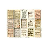 MINGYUE 60タイムスタンプ植物書き込み可能な素材紙日記プランスクラップブックレトロな装飾工芸品の背景紙 ペーパーアート (Color : H)