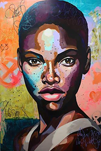 YWOHP Arte Retrato Imagen Lienzo Pintura Personaje Arte de la Pared Graffiti Abstracto Cartel Pop Femenino y Pintura de decoración del hogar 60X80cm_Unframed_DM519-14