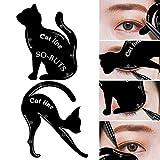 andy cool Premium Quality 2Pcs Women Cat Line Pro Eye Makeup Tool Eyeliner Stencils Template Shaper Model black
