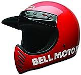 BELL Moto-3 Cascos, Hombre, Rojo clásico, XL