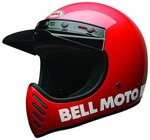 Bell Casco Moto-3 Classic, Rosso, Taglia XL