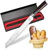 Bread knife, Imarku German High Carbon Stainless Steel Professional Grade Bread Slicing Knife, 10-Inch...