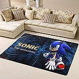 Zmacdk Sonic Force - Alfombra antideslizante para habitación de juegos, dormitorio de 5 x 6 pies (150 x 180 cm), colas sónicas (personaje) nudillos