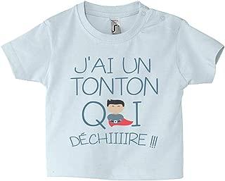 v/êtement fille et gar/çon humour parrain T-shirt b/éb/é message rigolo cadeau de naissance cadeau Tee-shirt enfant