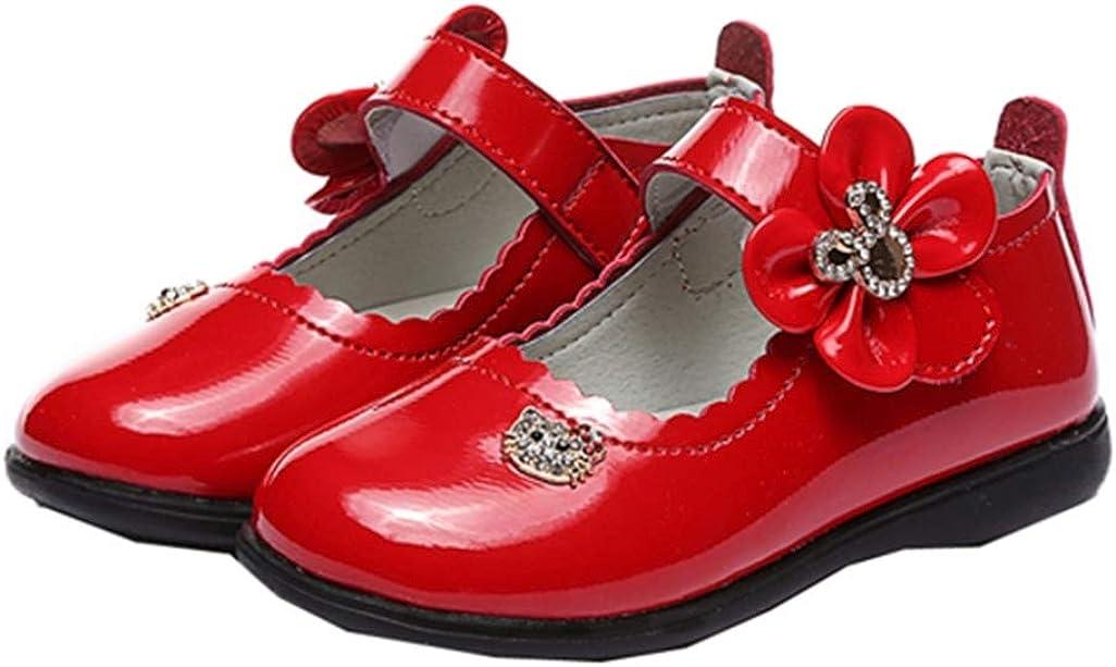 Filles Mary Jane Appartements Enfants imperm/éable d/écontract/é Bowknot Princesse Chaussures Enfants Robe de soir/ée /école Chaussures en Cuir