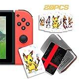 20 tarjetas de juego de etiquetas NFC para Super Smash Bros. Ultimate (SSBU), compatibles con Switch/Wii U/3DS XL con soporte portátil de cuero