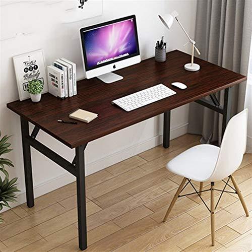 HUOQILIN Klapptisch Kleiner Computer Schreibtisch Schreibtisch Zu Hause Schreibtisch Schlafzimmer Schreibtisch Student Schreibtisch Faltbar (Color : Brown, Size : 80 * 60cm)