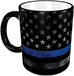 black usa flag Ceramic Coffee Mug Unique Best Gifts Microwave and Dishwasher Safe Funny Tea Cup 12oz