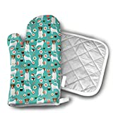 Oven Mitts and Pot Holders Sets Jack Russell Terrier Sushi Food Dog...