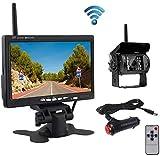 OiLiehu Caméra de Recul sans Fil Kit Système, IP68 Étanche Vision Nocturne Caméra de Recul + 7'...