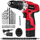 Avid Power 12V Cordless Drill, Power Drill Set with 22pcs Impact Driver/Drill Bits, 15+1 Torque Setting, 3/8 inches Keyless Chuck, 2 Variable Speed
