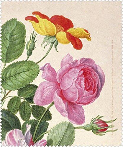 Rannenberg und Friends Brillenputztuch 'Rosen aus dem Nassau Florilegium'